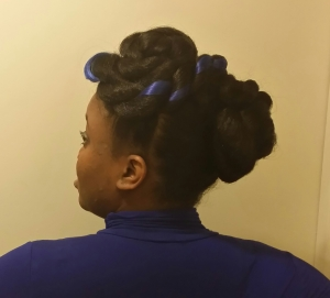 Jumbo Braid Kanekalon Updo.